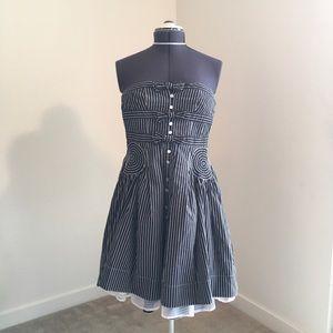 Byron Lars Anthropologie Strapless Dress